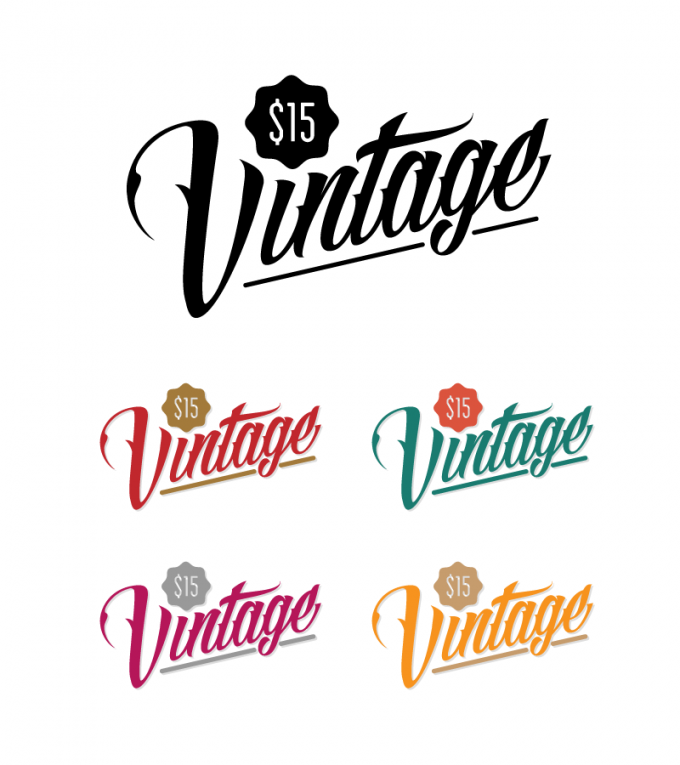 $15 Vintage Clothing Retail Store Logo
