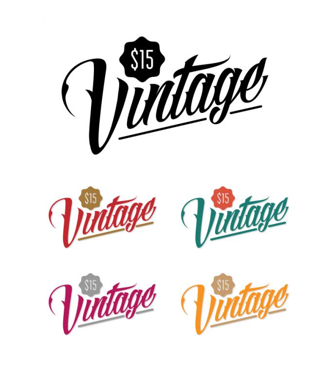 $15 Vintage Clothing Retail Store Logo