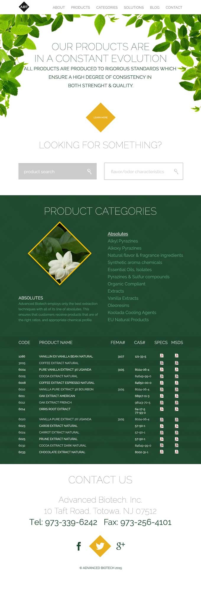 Advanced BioTech Website Design Concept